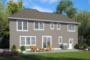 Craftsman Style House Plan - 4 Beds 2.5 Baths 2535 Sq/Ft Plan #48-932 Exterior - Rear Elevation