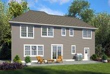 Craftsman Exterior - Rear Elevation Plan #48-932