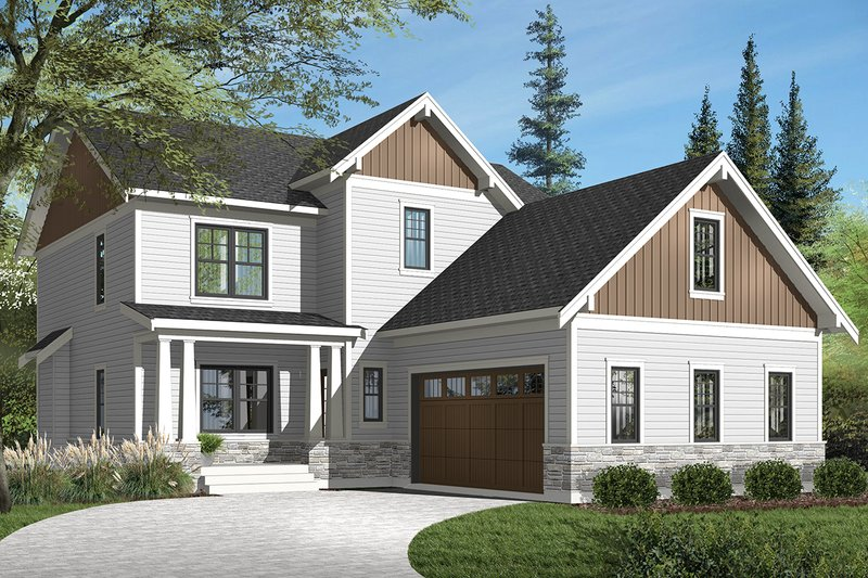 Dream House Plan - Traditional Exterior - Front Elevation Plan #23-2557