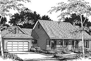 Architectural House Design - Country Exterior - Front Elevation Plan #14-109