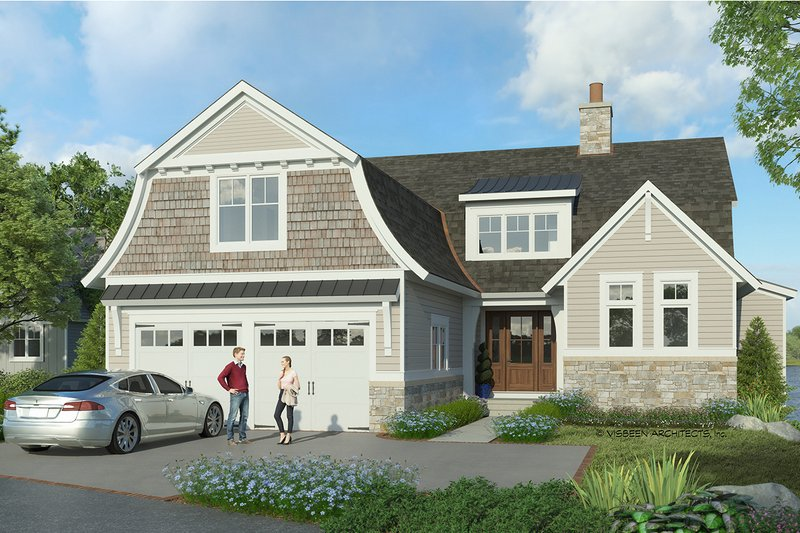 Home Plan - Colonial Exterior - Front Elevation Plan #928-334