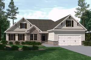 Architectural House Design - Ranch Exterior - Front Elevation Plan #1071-16