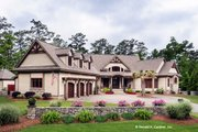 Craftsman Style House Plan - 5 Beds 4 Baths 4776 Sq/Ft Plan #929-340 Exterior - Front Elevation