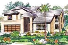 Mediterranean Exterior - Front Elevation Plan #72-456