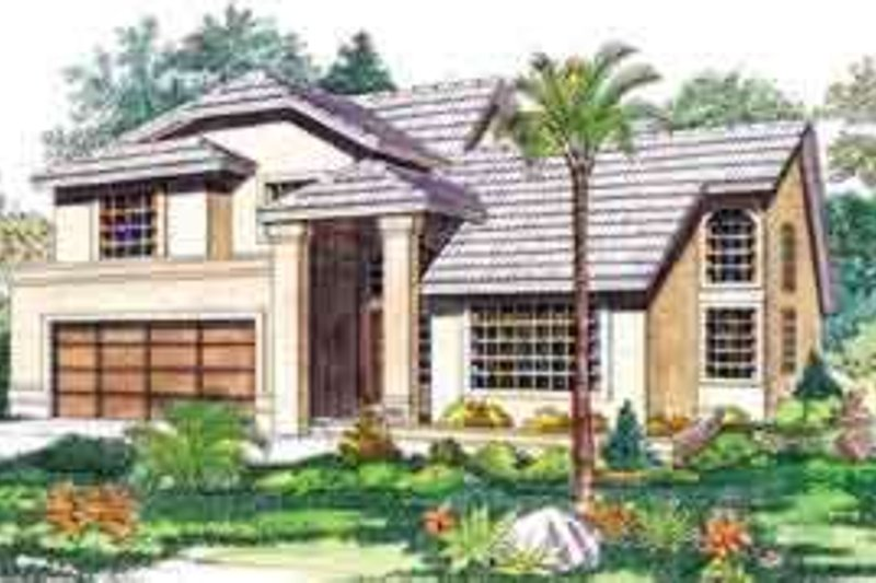 House Blueprint - Mediterranean Exterior - Front Elevation Plan #72-456