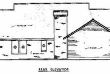 Country Exterior - Rear Elevation Plan #36-145
