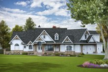 Dream House Plan - Craftsman Exterior - Front Elevation Plan #54-391