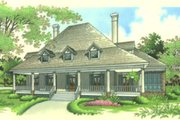 Southern Style House Plan - 4 Beds 3 Baths 3486 Sq/Ft Plan #45-170 Exterior - Front Elevation