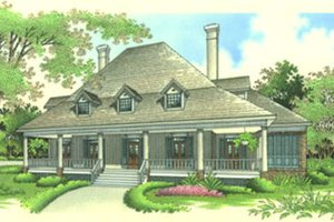 Southern Exterior - Front Elevation Plan #45-170