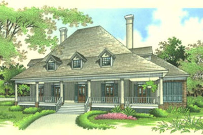 Home Plan - Southern Exterior - Front Elevation Plan #45-170