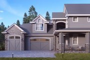 Traditional Style House Plan - 5 Beds 4.5 Baths 4161 Sq/Ft Plan #1066-19 Exterior - Front Elevation