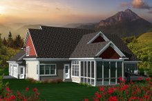 Dream House Plan - Country Exterior - Rear Elevation Plan #70-1148
