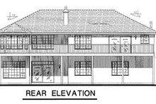 House Blueprint - Mediterranean Exterior - Rear Elevation Plan #18-1009