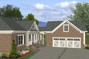 Southern Style House Plan - 4 Beds 3 Baths 1800 Sq/Ft Plan #56-555 Exterior - Other Elevation