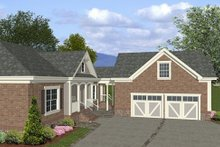 Southern Exterior - Other Elevation Plan #56-555