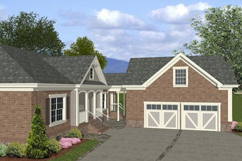 Southern Exterior - Other Elevation Plan #56-555 - Houseplans.com