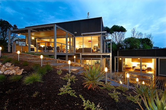Modern style Home, front elevation photo