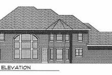 House Plan Design - Traditional Exterior - Rear Elevation Plan #70-541