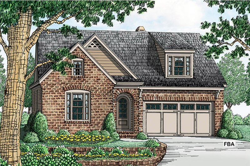 Colonial Exterior - Front Elevation Plan #927-970