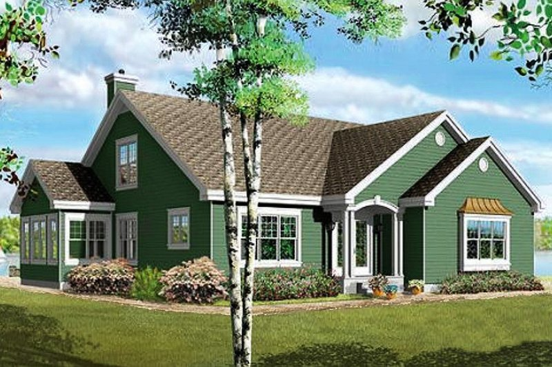 Home Plan - Traditional Exterior - Front Elevation Plan #23-716