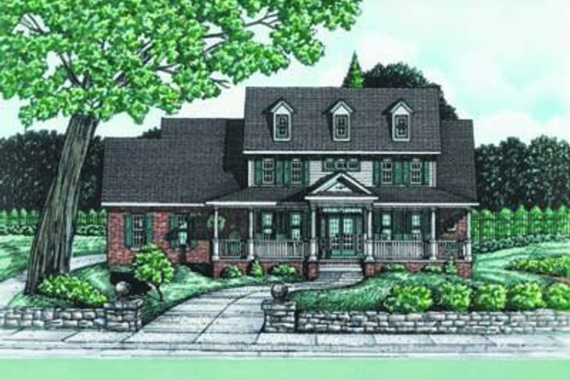 Dream House Plan - Colonial Exterior - Front Elevation Plan #20-880