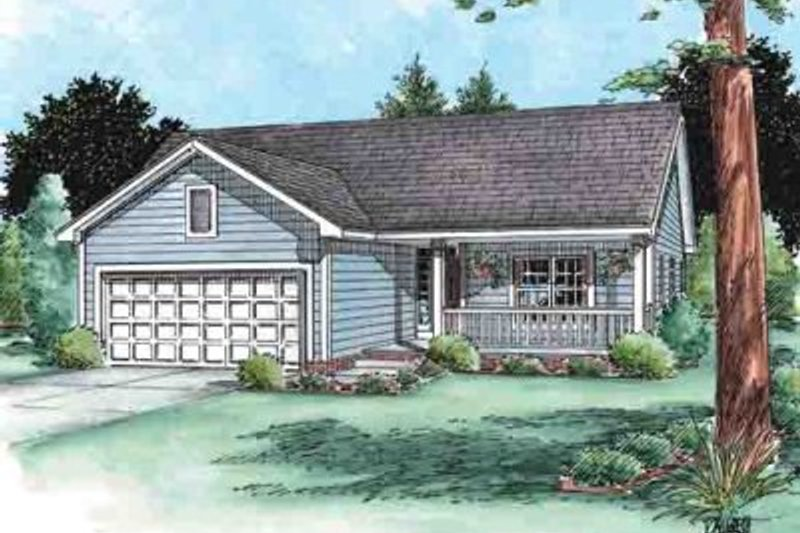 Ranch Exterior - Front Elevation Plan #20-1515