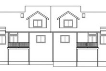 Dream House Plan - Traditional Exterior - Rear Elevation Plan #124-809