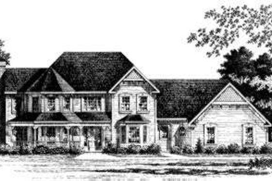 Victorian Exterior - Front Elevation Plan #328-143