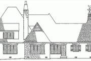 European Style House Plan - 4 Beds 5.5 Baths 3741 Sq/Ft Plan #137-111 Exterior - Rear Elevation
