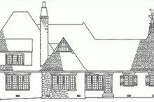 Home Plan - European Exterior - Rear Elevation Plan #137-111