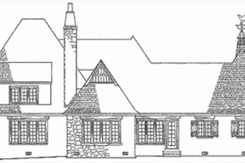 European Exterior - Rear Elevation Plan #137-111 - Houseplans.com