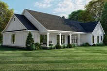 House Plan Design - Farmhouse Exterior - Rear Elevation Plan #923-157