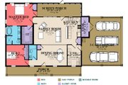 Country Style House Plan - 2 Beds 2 Baths 1755 Sq/Ft Plan #63-394 Floor Plan - Main Floor Plan