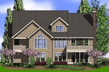 Dream House Plan - Rear View - 2800 square foot Craftsman home
