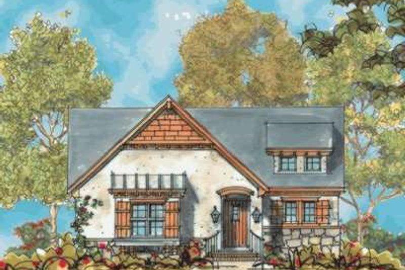 Dream House Plan - Cottage Exterior - Front Elevation Plan #20-1696