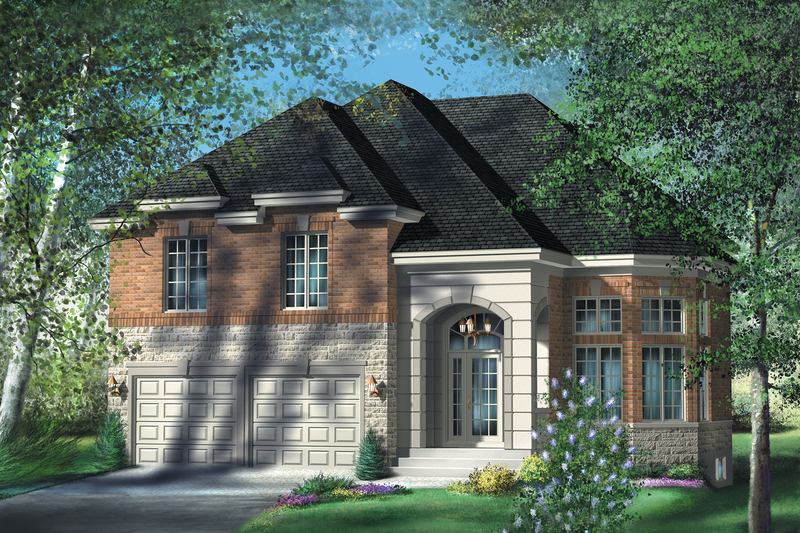 European Style House Plan - 4 Beds 2.5 Baths 2530 Sq/Ft Plan #25-4177 Exterior - Front Elevation
