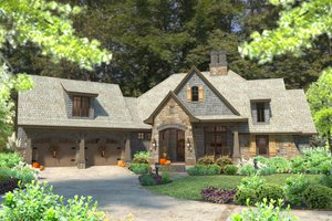 Lodge Craftsman house - 2500 square feet houseplans #120-184