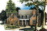 Traditional Style House Plan - 4 Beds 3.5 Baths 3342 Sq/Ft Plan #429-3 Exterior - Front Elevation