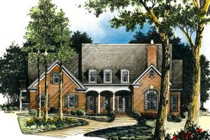Traditional Exterior - Front Elevation Plan #429-3
