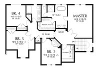Craftsman Floor Plan - Upper Floor Plan Plan #48-932