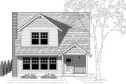 Traditional Style House Plan - 4 Beds 2 Baths 1900 Sq/Ft Plan #423-11 Exterior - Front Elevation