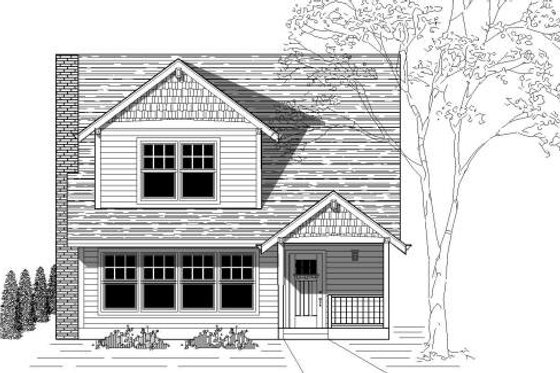 Traditional Exterior - Front Elevation Plan #423-11