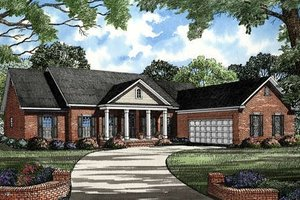 Southern Exterior - Front Elevation Plan #17-120