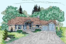 Home Plan Design - Traditional Exterior - Front Elevation Plan #60-232