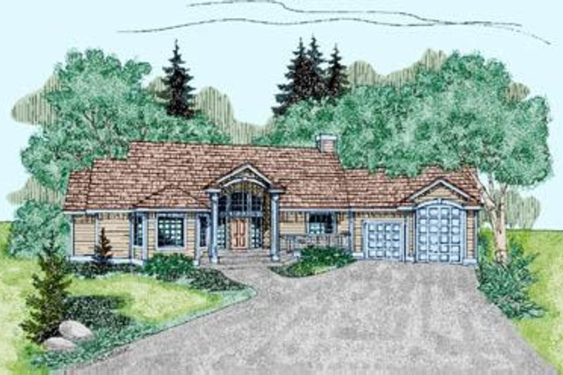 Traditional Exterior - Front Elevation Plan #60-232 - Houseplans.com
