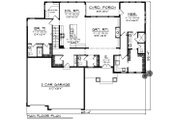 Ranch Style House Plan - 2 Beds 2.5 Baths 2096 Sq/Ft Plan #70-1461 Floor Plan - Main Floor Plan