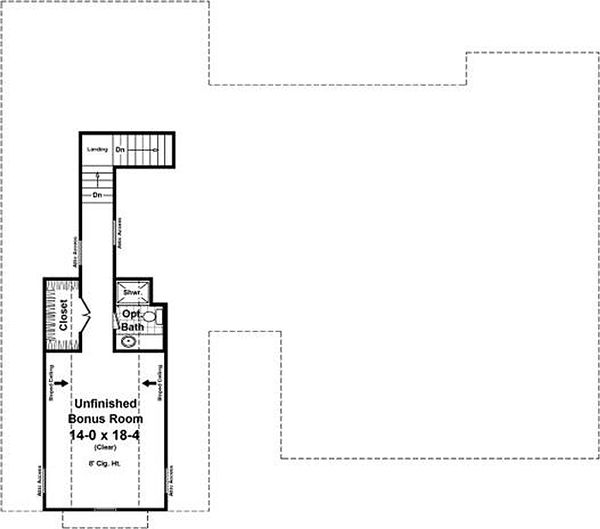 Craftsman Floor Plan - Upper Floor Plan Plan #21-361