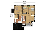 Contemporary Style House Plan - 3 Beds 2 Baths 2163 Sq/Ft Plan #25-4314 Floor Plan - Upper Floor Plan