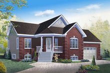 Country Exterior - Front Elevation Plan #23-782