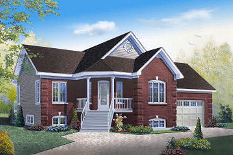 Home Plan - Country Exterior - Front Elevation Plan #23-782